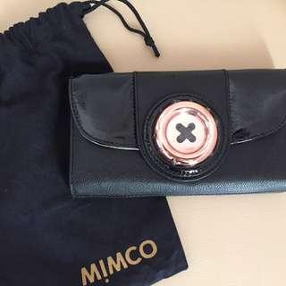 MIMCO Black lustre Button Wallet (BNWT)