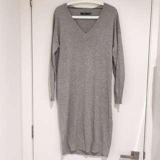 ❗️REDUCED ❗️Sportsgirl Grey V-neck Longline Knit Jumper