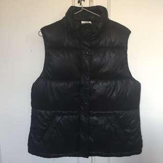 Seed Black Puffer Vest Sz14
