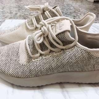 Adidas tubular shadow knit 沙色