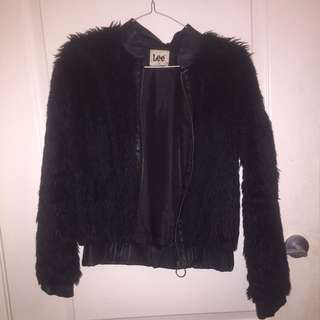 Lee Faux Fur Bomber Jacket