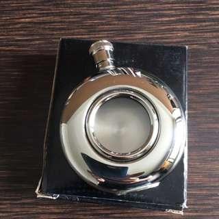 Round Window Hip Flask