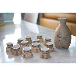 Shui Jing Fang 水井坊 Vintage Chinese Ceramic Wine Bottle Set 陶瓷酒器 Collectible