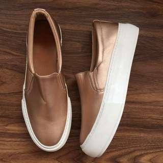 OshareGirl 06 歐美金屬光澤感玫瑰金休閒鞋