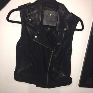 leather (vest/jacket)