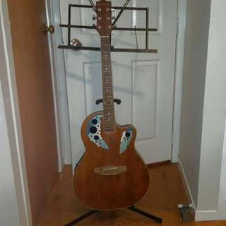 Guitar With Battery Bass/Treb + Stand