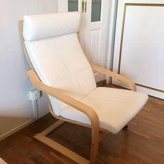 Ikea Poang Armchair Finnsta White