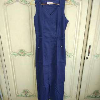 Navy Long Overall