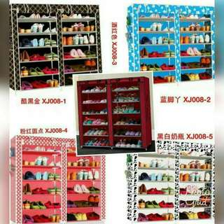 Double Capacity 6 Layer Shoe Rack Shoe Cabinet