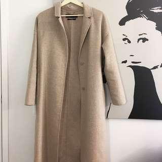 Zara 56% Wool Coat