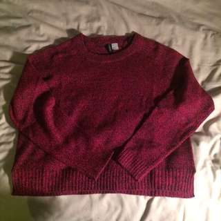 H&M Deep Red Sweater