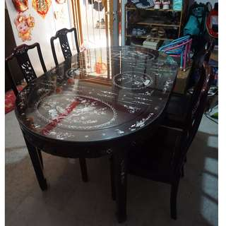 Antique Rosewood dining table set