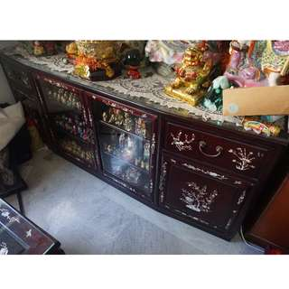Antique Rosewood Tv Console cabinet