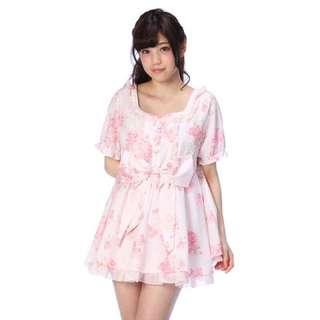 LIZLISA Melody 限定粉色蝴蝶結 裙衣 洋裝 娃娃裝