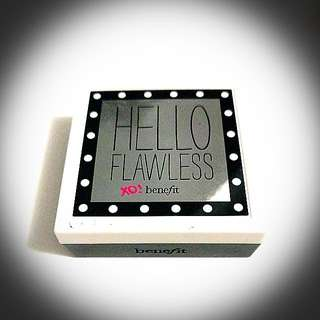 Benefit Hello Flawless Custom Powder Cover-up Compact For Face In Honey Shade SPF 15 Includes Mirror Brush Sponge