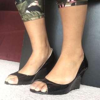 Black Patent Tony Bianco Heels - Size 8.5