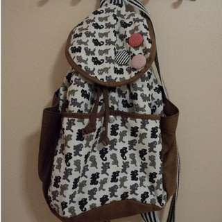 Cat-print rucksack bag