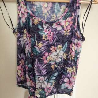 NEW LOOK petite Floral Cropped Top