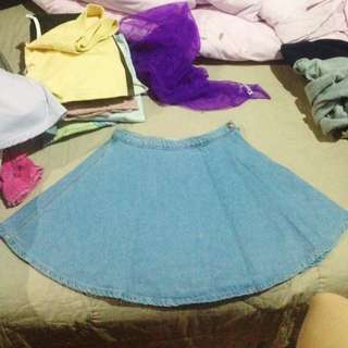 Authentic American Apparel Denim Circle Skirt