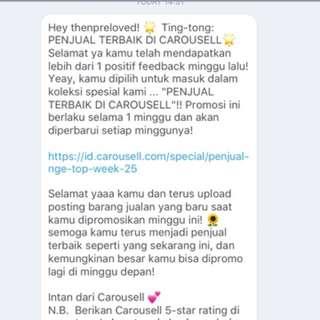 Thankyou Carousell ❤️
