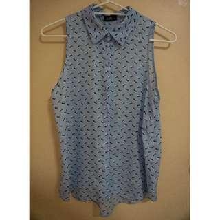 Sparrow print blouse