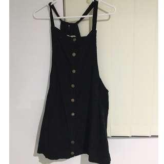 Black Tunic Dungaree Dress