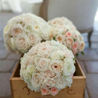 Carnation With Roses Bridal Bouquet - Rachel