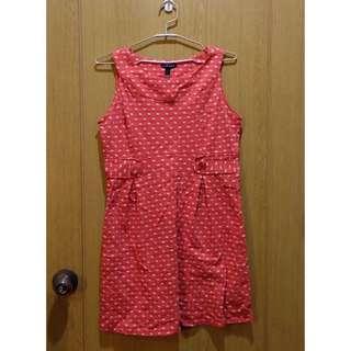 Lucky Red Polka Dot Print Sleeveless Dress