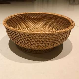 Handmade Basket And Crafted From South Africa - Approx 10 In Diameter X 4 In Height