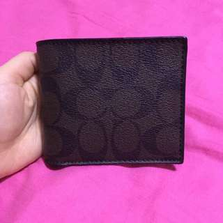 Coach Leather Wallet Brown