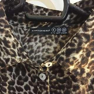Atmosphere Leopard Print Top Branded