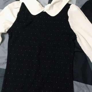 針織公主袖襯衫