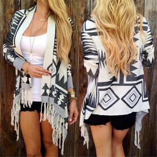 Womens Long Sleeve Knitted Cardigan Loose Sweater Outwear Coat Tops