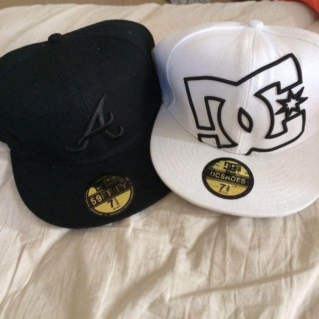 2 mens hats.