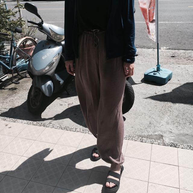 🔎現貨麻紗寬鬆長褲