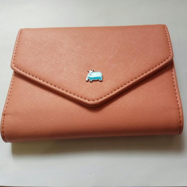 🙅[全新]天藍小舖信封款大象護照證件收納中夾