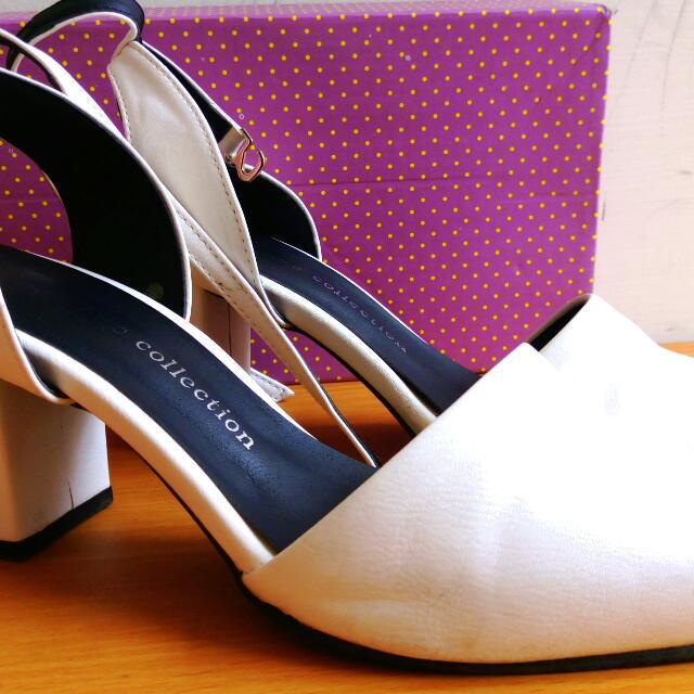 正韓粗跟高跟涼鞋#我有涼鞋要賣
