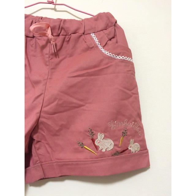 粉藕色短褲