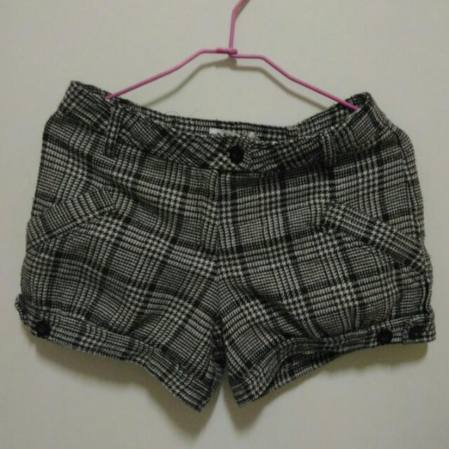 格子短褲 28腰