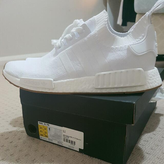 Adidas NMD PK gum White Mens 12.5 Brand New With Tags.