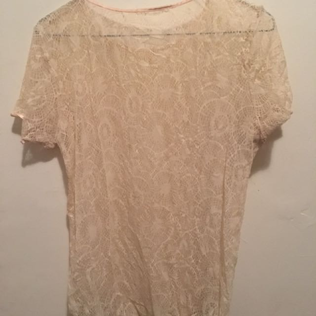American Apparel Lace Top