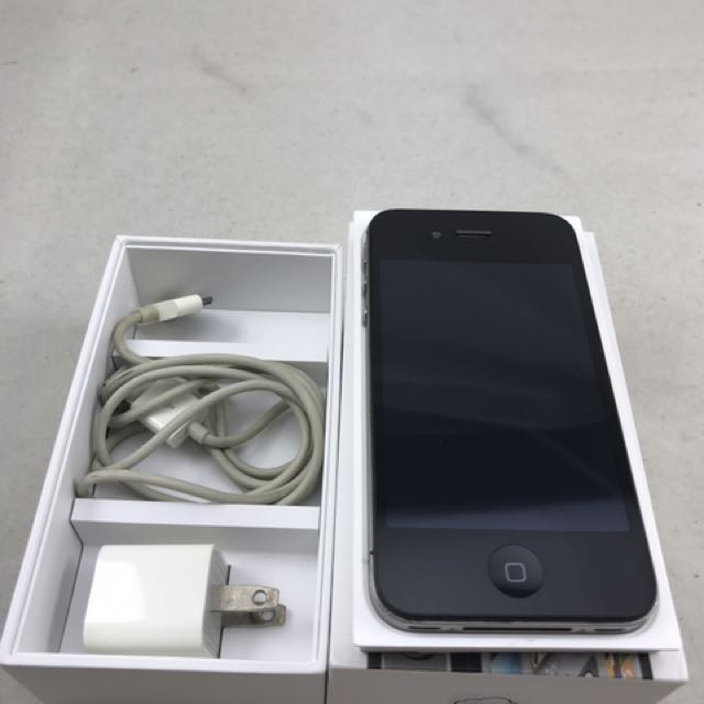 apple iphone 4s 16g have box black