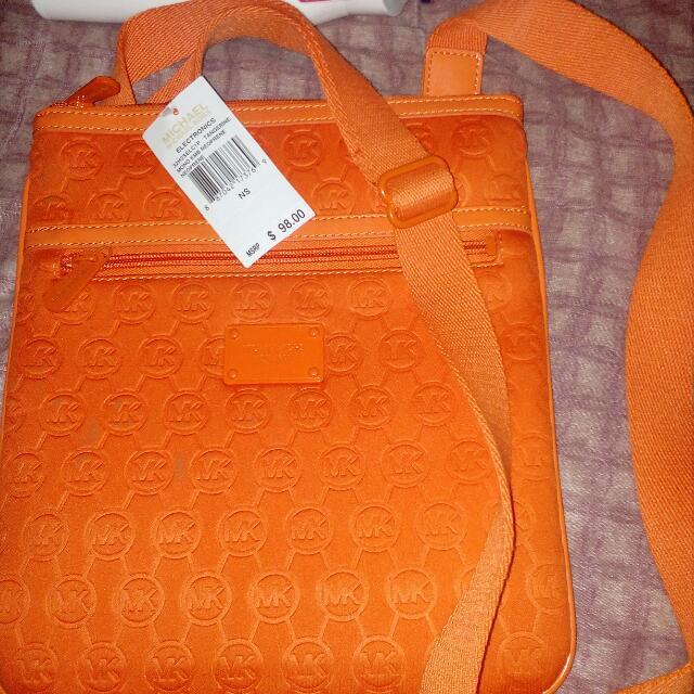 Authentic MK Tangerine Bag