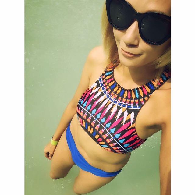Aztec Halter Swimsuit