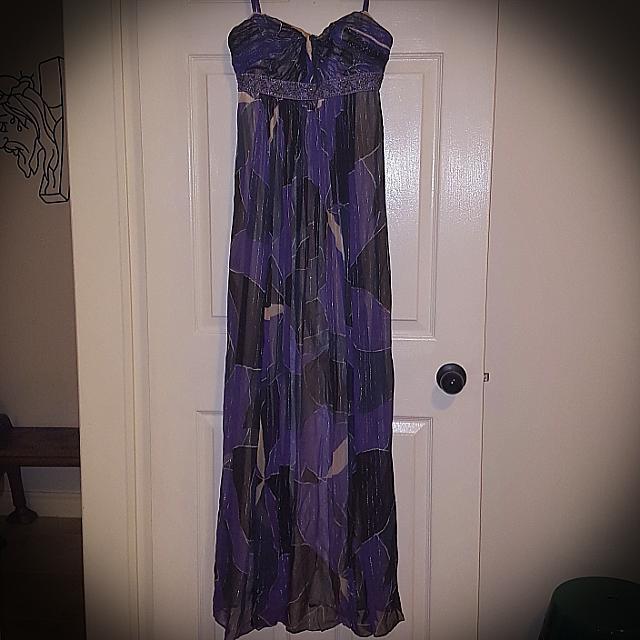 BCBG Strapless Gown Purple Size 0