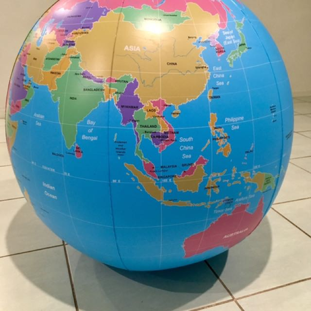 Big Inflatable Globe Map