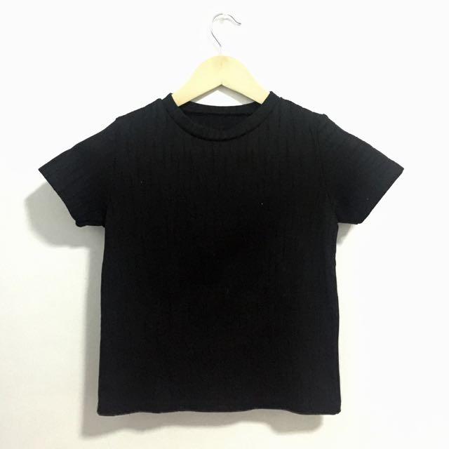 BLACK (not so) Crop Top