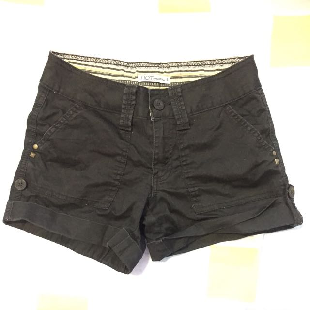 Black Shorts With Rolled Cuffs