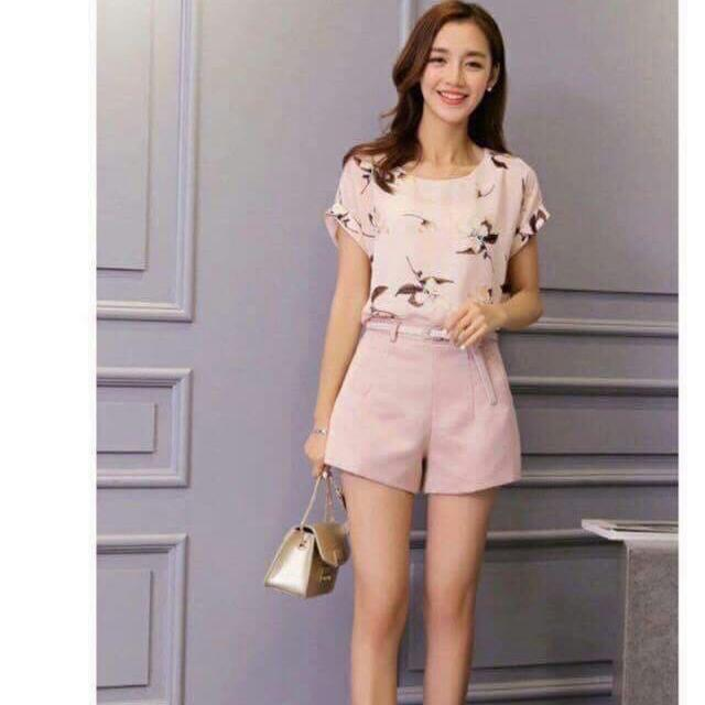 Blouse And Short Set
