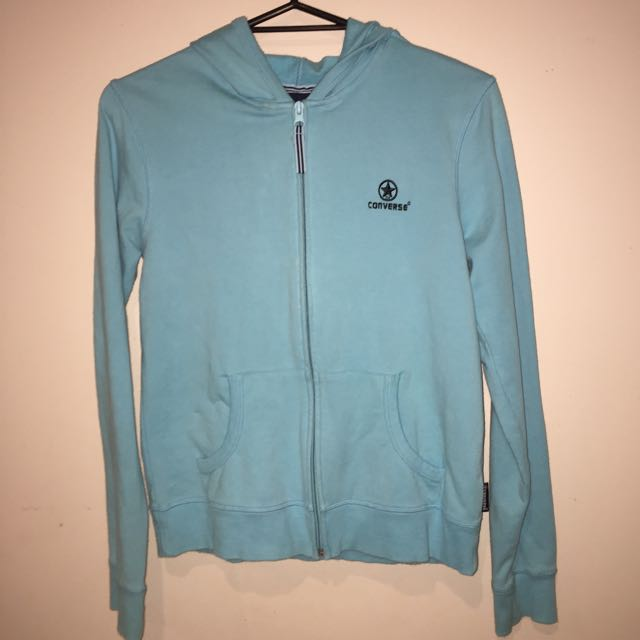 Blue Converse Hoodie Size Small